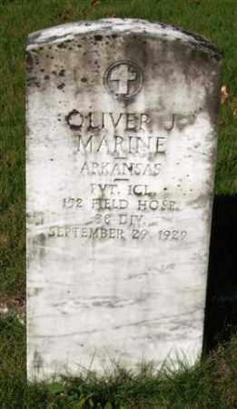 MARINE (VETERAN), OLIVER J - Saline County, Arkansas | OLIVER J MARINE (VETERAN) - Arkansas Gravestone Photos