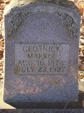 MARKLE, GEO (NICK) - Saline County, Arkansas | GEO (NICK) MARKLE - Arkansas Gravestone Photos