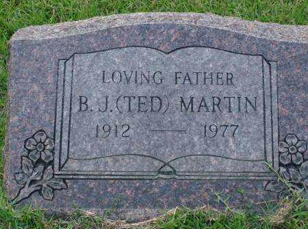 MARTIN, B.J. - Saline County, Arkansas | B.J. MARTIN - Arkansas Gravestone Photos