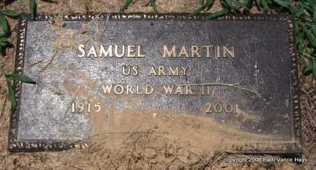 MARTIN (VETERAN WWII), SAMUEL - Saline County, Arkansas | SAMUEL MARTIN (VETERAN WWII) - Arkansas Gravestone Photos
