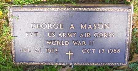 MASON (VETERAN WWII), GEORGE A - Saline County, Arkansas | GEORGE A MASON (VETERAN WWII) - Arkansas Gravestone Photos