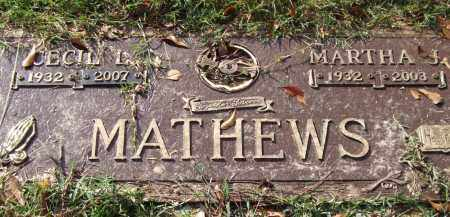 MATHEWS, MARTHA J. - Saline County, Arkansas | MARTHA J. MATHEWS - Arkansas Gravestone Photos