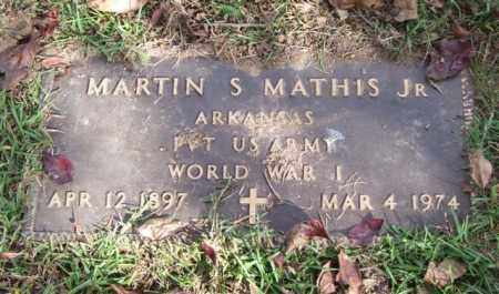 MATHIS, JR. (VETERAN WWI), MARTIN S - Saline County, Arkansas | MARTIN S MATHIS, JR. (VETERAN WWI) - Arkansas Gravestone Photos