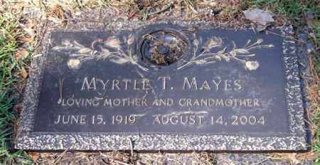 MAYES, MYRTLE T. - Saline County, Arkansas | MYRTLE T. MAYES - Arkansas Gravestone Photos