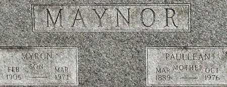 MAYNOR, MYRON (CLOSEUP) - Saline County, Arkansas | MYRON (CLOSEUP) MAYNOR - Arkansas Gravestone Photos
