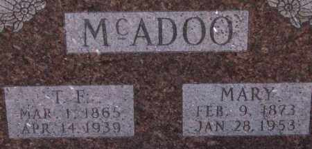 MCADOO, THOMAS F. (CLOSEUP) - Saline County, Arkansas | THOMAS F. (CLOSEUP) MCADOO - Arkansas Gravestone Photos
