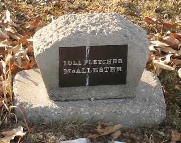 FLETCHER MCALLESTER, LULA - Saline County, Arkansas | LULA FLETCHER MCALLESTER - Arkansas Gravestone Photos