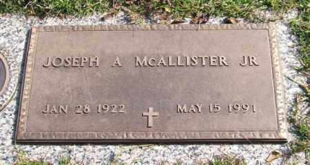 MCALLISTER, JR., JOSEPH A. - Saline County, Arkansas | JOSEPH A. MCALLISTER, JR. - Arkansas Gravestone Photos