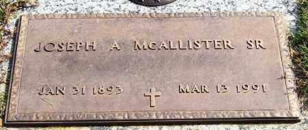 MCALLISTER, SR., JOSEPH A. - Saline County, Arkansas | JOSEPH A. MCALLISTER, SR. - Arkansas Gravestone Photos