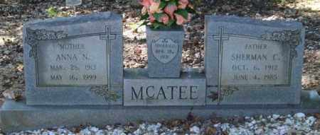 MCATEE, SHERMAN C. - Saline County, Arkansas | SHERMAN C. MCATEE - Arkansas Gravestone Photos