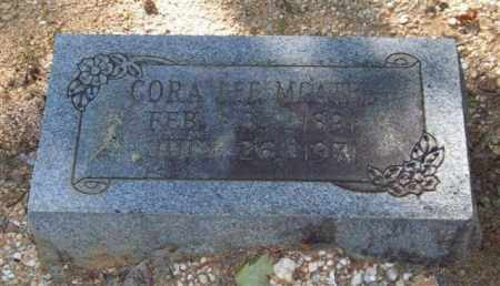 MCATEE, CORA LEE - Saline County, Arkansas | CORA LEE MCATEE - Arkansas Gravestone Photos