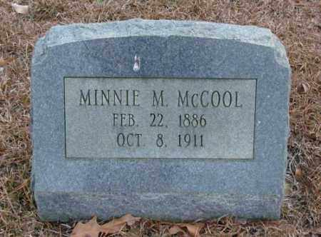 MCCOOL, MINNIE M. - Saline County, Arkansas | MINNIE M. MCCOOL - Arkansas Gravestone Photos