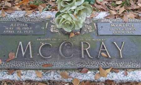 MCCRAY, ALPHA - Saline County, Arkansas | ALPHA MCCRAY - Arkansas Gravestone Photos