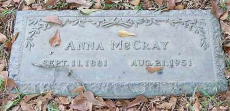 MCCRAY, ANNA - Saline County, Arkansas | ANNA MCCRAY - Arkansas Gravestone Photos