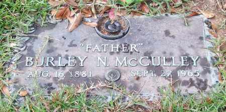 MCCULLEY, BURLEY N. - Saline County, Arkansas | BURLEY N. MCCULLEY - Arkansas Gravestone Photos