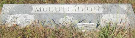 MCCUTCHEON, JOHN PAUL - Saline County, Arkansas | JOHN PAUL MCCUTCHEON - Arkansas Gravestone Photos