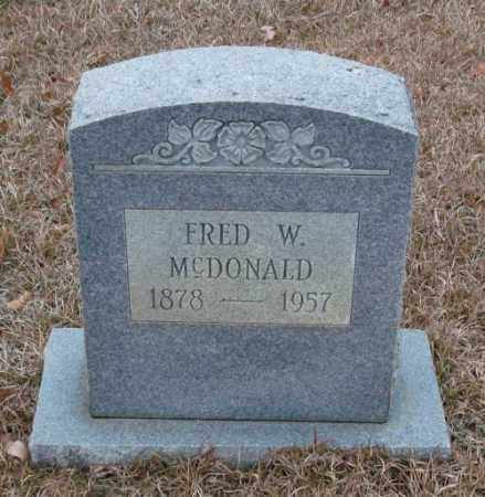 MCDONALD, FRED W - Saline County, Arkansas | FRED W MCDONALD - Arkansas Gravestone Photos