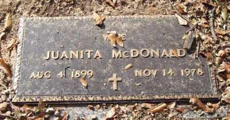 MCDONALD, JUANITA - Saline County, Arkansas | JUANITA MCDONALD - Arkansas Gravestone Photos