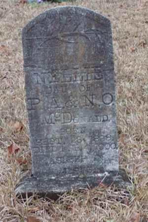 MCDONALD, NELLIE - Saline County, Arkansas   NELLIE MCDONALD - Arkansas Gravestone Photos