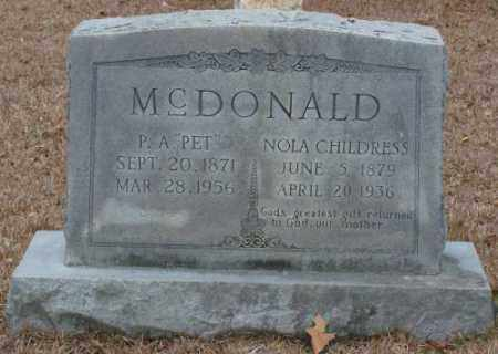 CHILDRESS MCDONALD, NOLA - Saline County, Arkansas | NOLA CHILDRESS MCDONALD - Arkansas Gravestone Photos