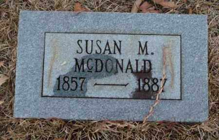 MCDONALD, SUSAN M. - Saline County, Arkansas | SUSAN M. MCDONALD - Arkansas Gravestone Photos
