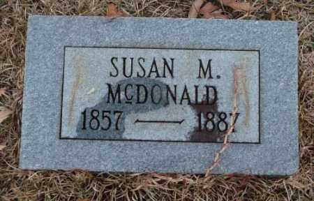 MCDONALD, SUSAN M. - Saline County, Arkansas   SUSAN M. MCDONALD - Arkansas Gravestone Photos