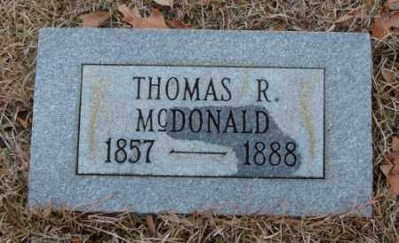 MCDONALD, THOMAS R. - Saline County, Arkansas | THOMAS R. MCDONALD - Arkansas Gravestone Photos