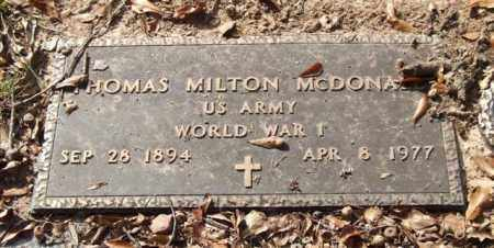 MCDONALD (VETERAN WWI), THOMAS MILTON - Saline County, Arkansas | THOMAS MILTON MCDONALD (VETERAN WWI) - Arkansas Gravestone Photos