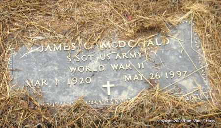 MCDONALD (VETERAN WWII), JAMES O. - Saline County, Arkansas | JAMES O. MCDONALD (VETERAN WWII) - Arkansas Gravestone Photos