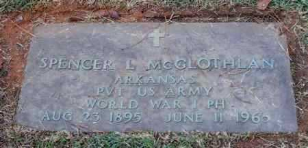 MCGLOTHLAN (VETERAN WWI), SPENCER L. - Saline County, Arkansas | SPENCER L. MCGLOTHLAN (VETERAN WWI) - Arkansas Gravestone Photos