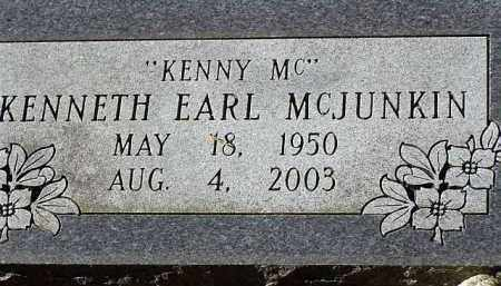 MCJUNKIN, KENNETH EARL - Saline County, Arkansas | KENNETH EARL MCJUNKIN - Arkansas Gravestone Photos