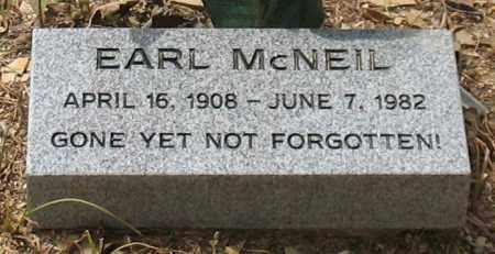 MCNEIL, EARL - Saline County, Arkansas | EARL MCNEIL - Arkansas Gravestone Photos
