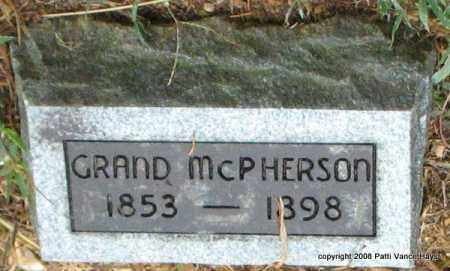 MCPHERSON, GRAND - Saline County, Arkansas | GRAND MCPHERSON - Arkansas Gravestone Photos