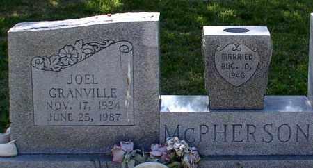 MCPHERSON (VETERAN WWII), JOEL GRANVILLE - Saline County, Arkansas | JOEL GRANVILLE MCPHERSON (VETERAN WWII) - Arkansas Gravestone Photos
