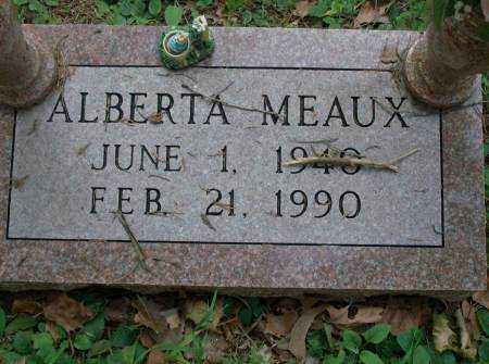 MEAUX, ALBERTA - Saline County, Arkansas | ALBERTA MEAUX - Arkansas Gravestone Photos