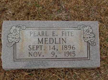 MEDLIN, PEARL E. - Saline County, Arkansas | PEARL E. MEDLIN - Arkansas Gravestone Photos