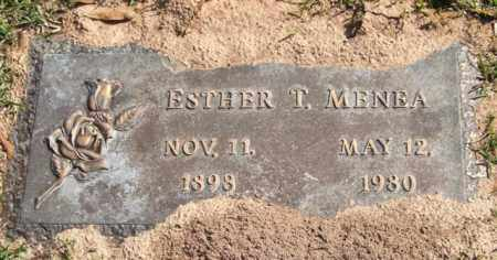 MENEA, ESTHER T. - Saline County, Arkansas | ESTHER T. MENEA - Arkansas Gravestone Photos