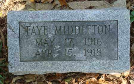MIDDLETON, FAYE - Saline County, Arkansas | FAYE MIDDLETON - Arkansas Gravestone Photos