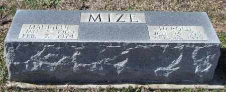 MIZE, HAROLD H. - Saline County, Arkansas | HAROLD H. MIZE - Arkansas Gravestone Photos