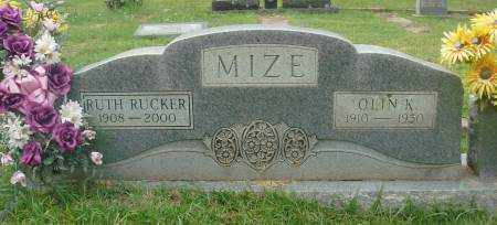 MIZE, RUTH - Saline County, Arkansas | RUTH MIZE - Arkansas Gravestone Photos