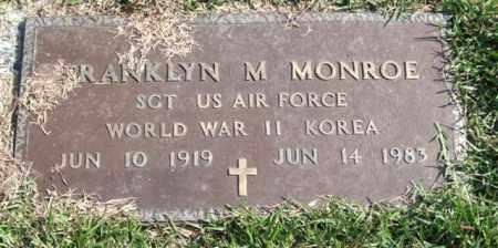 MONROE (VETERAN 2 WARS), FRANKLYN M. - Saline County, Arkansas   FRANKLYN M. MONROE (VETERAN 2 WARS) - Arkansas Gravestone Photos