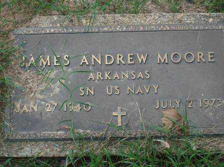 MOORE (VETERAN), JAMES ANDREW - Saline County, Arkansas | JAMES ANDREW MOORE (VETERAN) - Arkansas Gravestone Photos