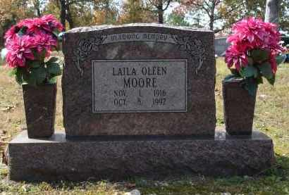 HAWKINS MOORE, LAILA OLEEN - Saline County, Arkansas | LAILA OLEEN HAWKINS MOORE - Arkansas Gravestone Photos