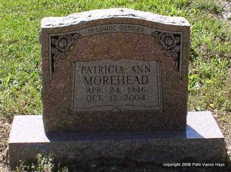 MALLOY MOREHEAD, PATRICIA ANN - Saline County, Arkansas | PATRICIA ANN MALLOY MOREHEAD - Arkansas Gravestone Photos