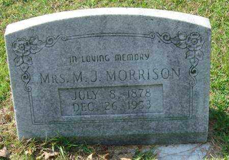 MORRISON, MRS. M.J. - Saline County, Arkansas | MRS. M.J. MORRISON - Arkansas Gravestone Photos