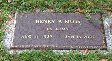MOSS (VETERAN), HENRY R - Saline County, Arkansas | HENRY R MOSS (VETERAN) - Arkansas Gravestone Photos