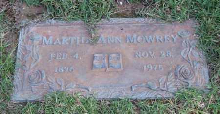 MOWREY, MARTHA ANN - Saline County, Arkansas | MARTHA ANN MOWREY - Arkansas Gravestone Photos