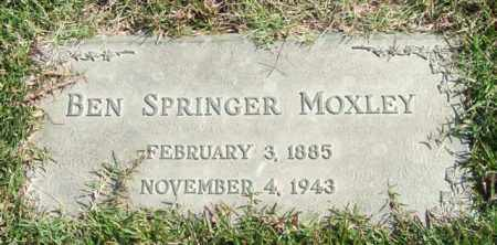 MOXLEY, BEN SPRINGER - Saline County, Arkansas | BEN SPRINGER MOXLEY - Arkansas Gravestone Photos