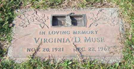 MUSE, VIRGINIA D. - Saline County, Arkansas | VIRGINIA D. MUSE - Arkansas Gravestone Photos