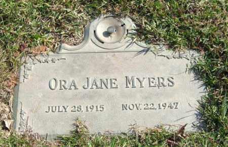MYERS, ORA JANE - Saline County, Arkansas | ORA JANE MYERS - Arkansas Gravestone Photos
